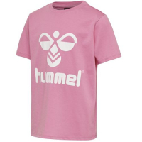 Hummel Tres T-skjorte Fuchsia Pink