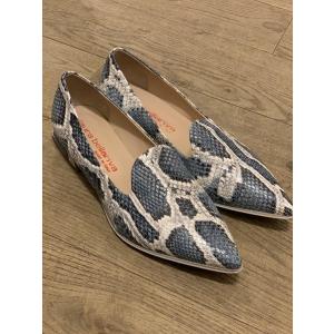 Blue Pyton Shoes