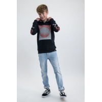 Garcia Teens Boys Sweat Hood Off Black