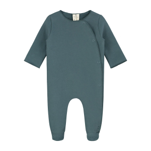 GRAY LABEL - NEWBORN SUIT WITH SNAPS BLUE GREY