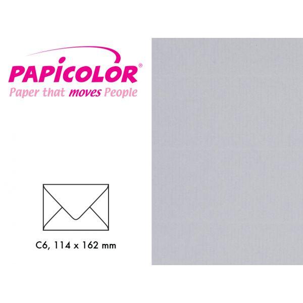 Papicolor Konvolutt C6 – 958 Grå – 6stk