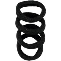 Hiley 4pk hårstrikk Black/Black Glitter