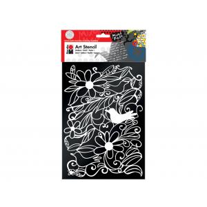 Sjablong Marabu Mixed Media  – A4 Blooming Garden