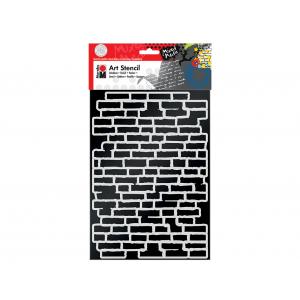 Sjablong Marabu Mixed Media – A4 Bricks