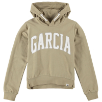 Garcia Teens Girls Sweat Hood Green Flower