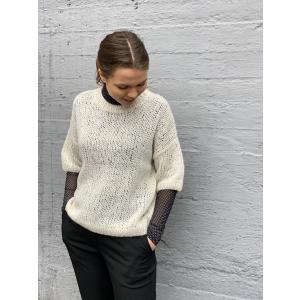 Mellow 2/4 knit o-neck - birch