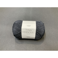 Tynn merinoull mørk grå melert 1055