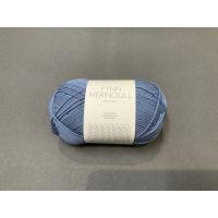 Tynn merinoull jeansblå 6052