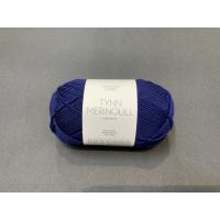 Tynn merinoull marineblå 5575