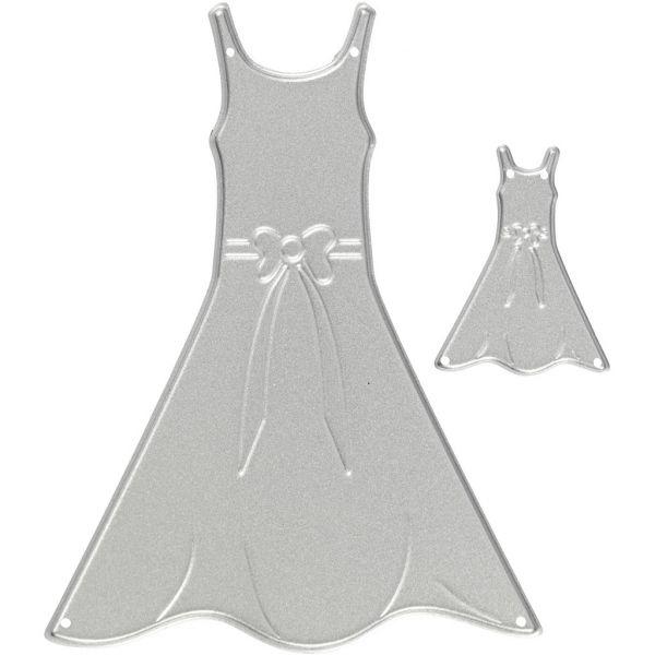 Skjæresjablong, str. 27x35+26x90 mm, , kjoler