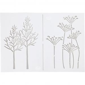 Stensil, A4 21x30 cm, , høst,