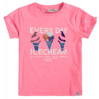 Garcia Girls T-shirt Icecream Shocking Pink