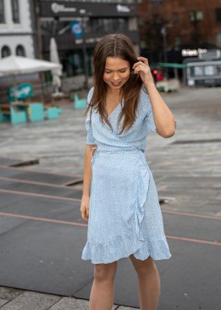 Irina dress -sky blue