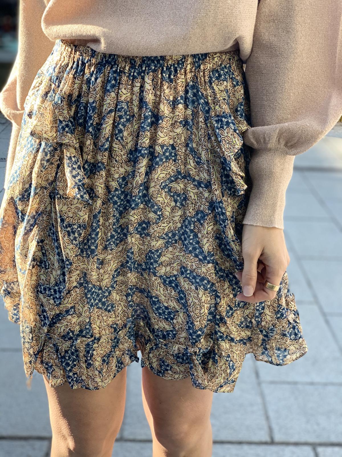 Wildly short skirt