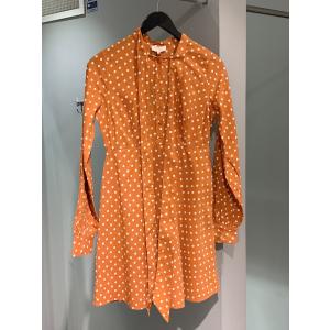 Bohemain bowtie dress - Orange dot