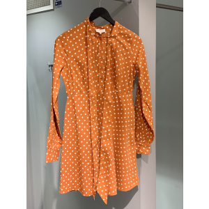 Bohemain bowtie dress - Orange dot