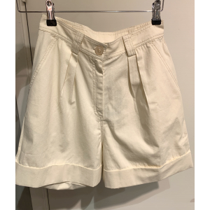 Structured cotton shorts