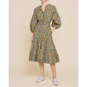 Structured Cotton Shirt Dress - Small Garden