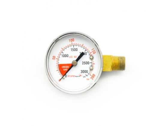 Manometer 0-200 bar - Krome