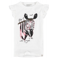 Garcia Zebra T-shirt Girls Off White