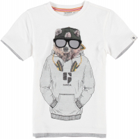 Garcia Bear t-shirt boys kids Broken white