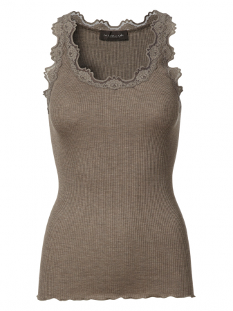 Silktop vintage lace Brown