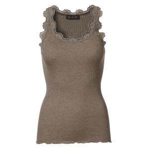 Silktop vintage lace Brown