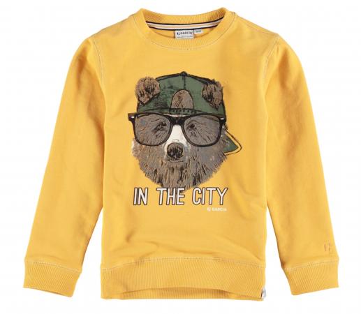 Garcia Sweatshirt Kids Boys Sunny Yellow