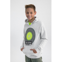 Garcia Sweat Hood Boys Teens White Melee