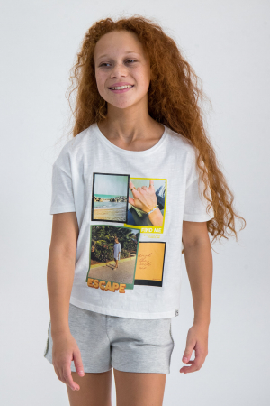 Garcia T-shirt Find Me Teens girl Off White