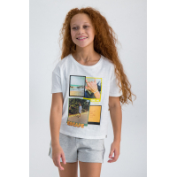 Garcia T-shirt Find Me Teens girl Off White