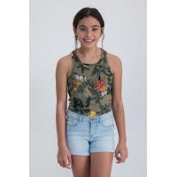 Garcia brytetopp Teens girls Green Flower