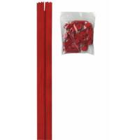 Glidelås grov 4,5 mm rød