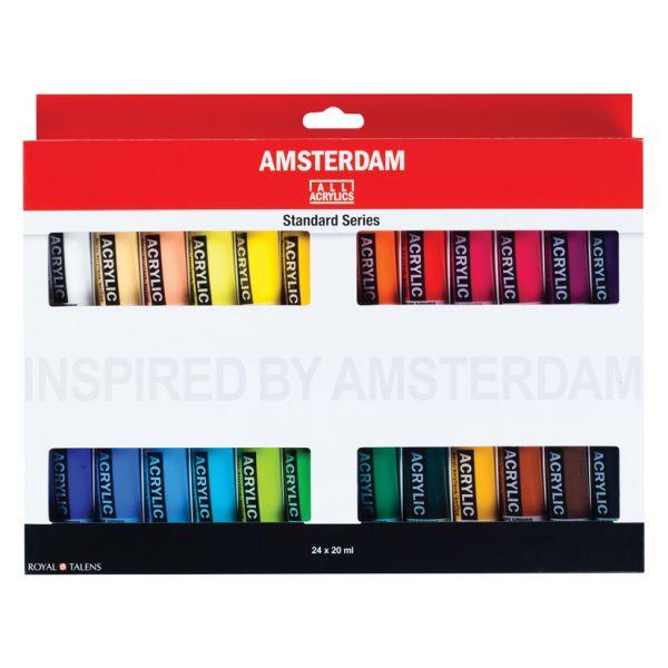Amsterdam Standard 20ml – Sett 24 ass. farger