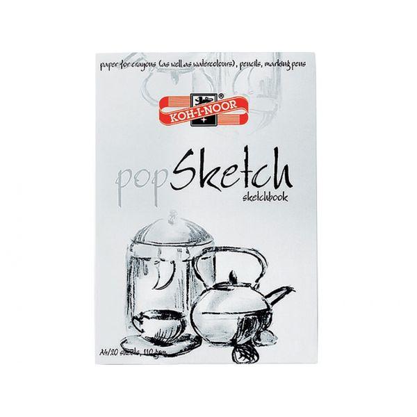 Koh-i-noor Pop Sketch A4 – Skisseblokk A4 – 20ark