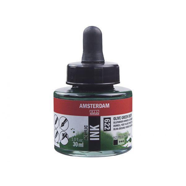 Amsterdam Ink 30ml – 622 Olive green deep