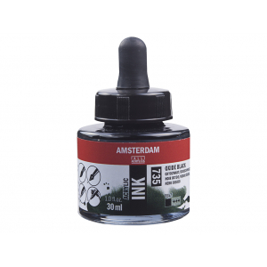 Amsterdam Ink 30ml – 735 Oxide Black