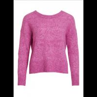 OBJnete knit v-neck pink