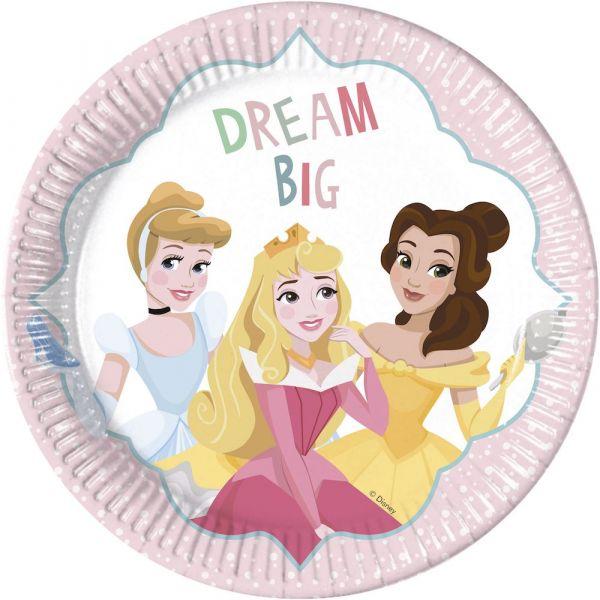 Papptallerken Prinsesse Drøm 23 cm, 8 stk