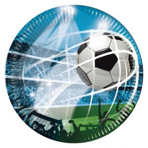 Papptallerken Fotball 23 cm, 8 stk