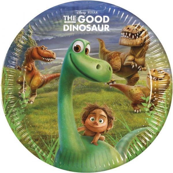 Papptallerken The Good Dinosaur 23 cm, 8 stk