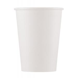 Drikkekrus i Papp Hvit 10 stk 200ml COMPOSTABLE