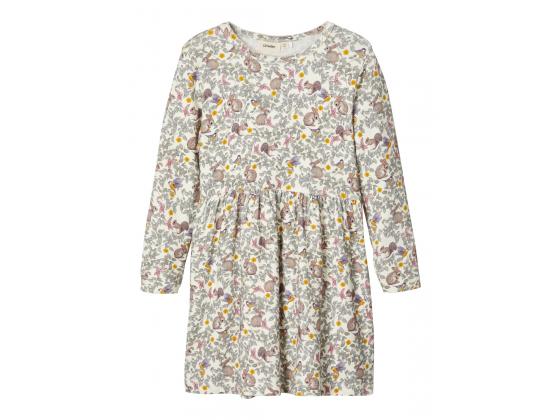 Gaya langermet kjole mini blomstret