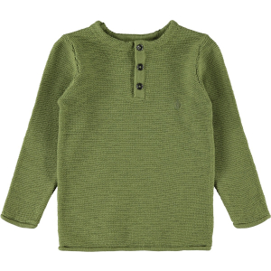Fivo strikket genser Mini Loden Green