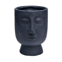 Dekorkrukke/vase m/ lukkede øyne smal