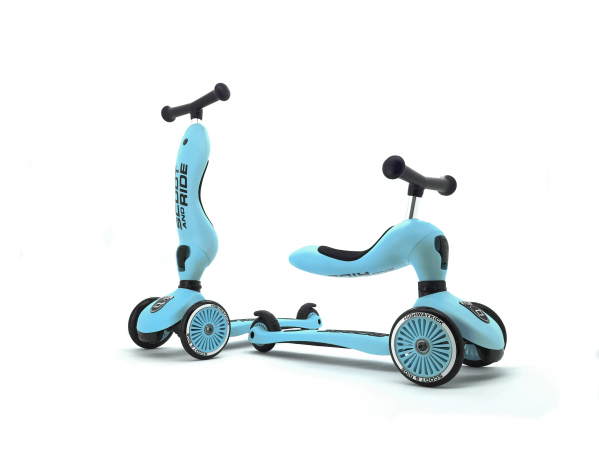 SCOOT & RIDE - SPARKESYKKEL HIGHWAYKICK 1 BLUEBERRY