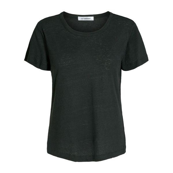 Linen O-Neck Black