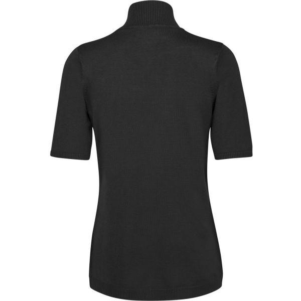 Lima black roll neck knit