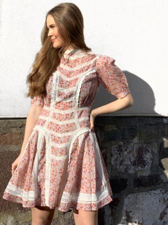Victorian organza mini dress