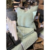 Cord putetrekk grønn 45x45